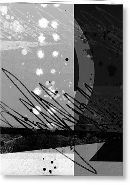 White Digital Art Greeting Cards - Midnight in the City 1 triptych Greeting Card by Ann Powell