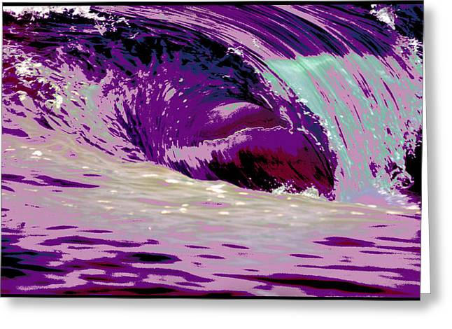 Wave Image Greeting Cards - Midnight Monster Greeting Card by Brad Scott