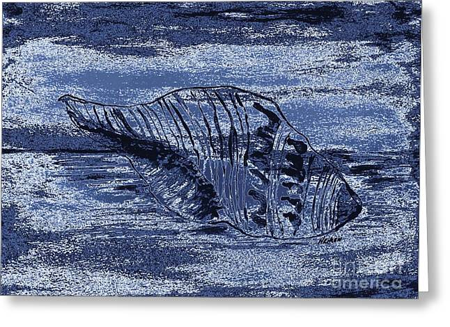 Midnite Tide Shell Greeting Card by Marsha Heiken