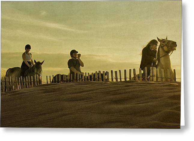 Paul Grand Greeting Cards - Midsummer Evening Horse Ride Greeting Card by Paul Grand