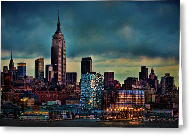 Chelsea Digital Art Greeting Cards - Midtown Manhattan Sunset Greeting Card by Chris Lord