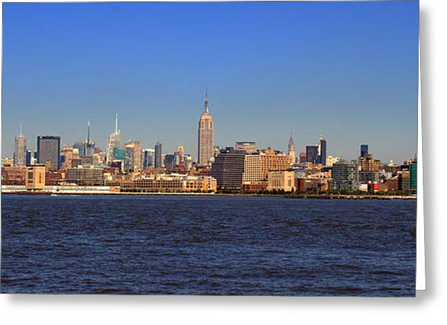 Fishing Boats Greeting Cards - Midtown  Manhattan West Greeting Card by Aron Chervin