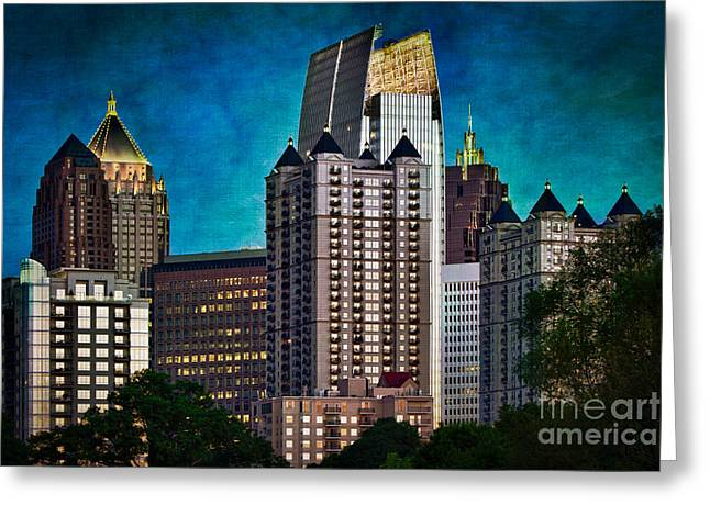 Midtown Skyline Greeting Card by Doug Sturgess