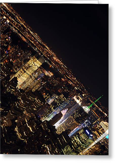 Midtown Greeting Cards - Midtown Vertical Skyline Greeting Card by Mike Lindwasser Photography
