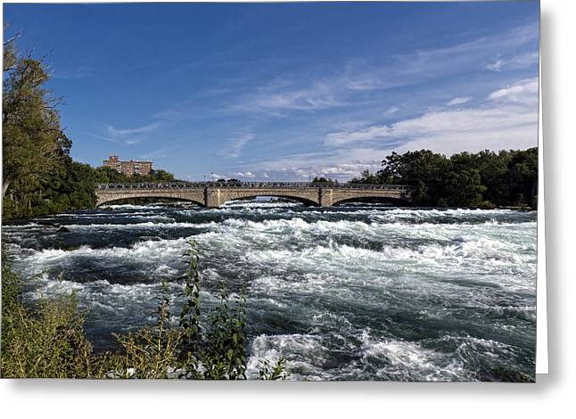 Rapids Greeting Cards - Mighty Niagara Rapids Greeting Card by Peter Chilelli