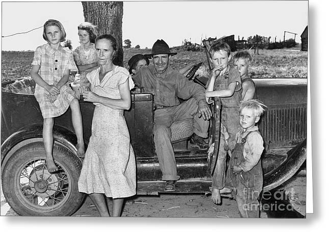 South Arkansas Greeting Cards - Migrant Workers 1939 Greeting Card by Granger
