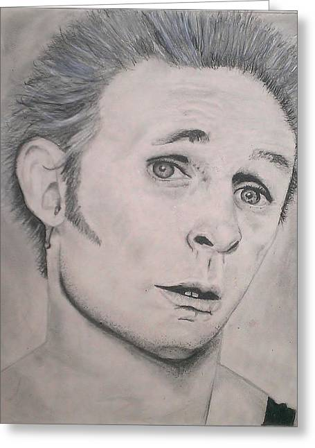 Green Day Greeting Cards - Mike Dirnt Greeting Card by Brittany Frye