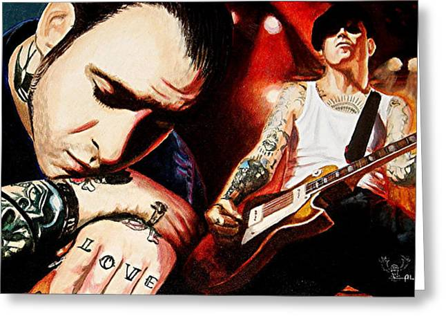 Mike Greeting Cards - Mike Ness Nuff Said Greeting Card by Al  Molina