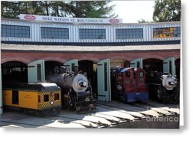 Train Rides Greeting Cards - Mike Watson St. Turnhouse - Traintown Sonoma California - 5D19249 Greeting Card by Wingsdomain Art and Photography