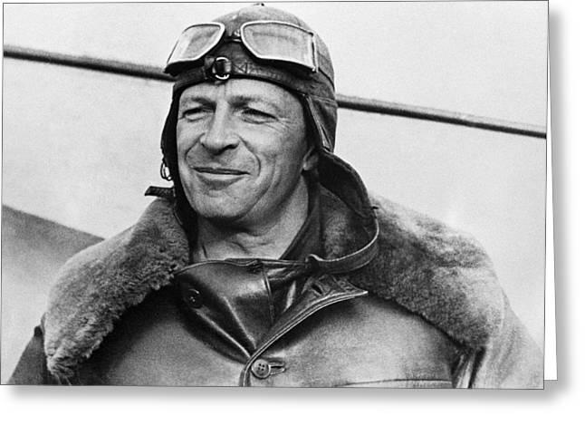 History Of Flying Greeting Cards - Mikhail Gromov, Soviet Transpolar Pilot Greeting Card by Ria Novosti