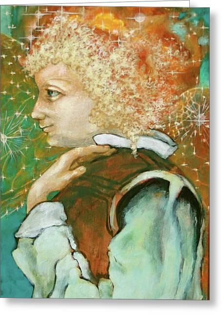 Visionary Artist Greeting Cards - Milagro Angel Greeting Card by Sue  Hoya Sellars