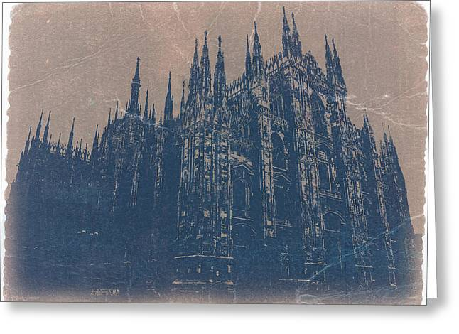 Milan Cathedral Greeting Card by Naxart Studio