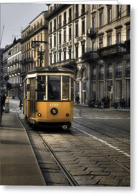 Tram Photographs Greeting Cards - Milan Italy Greeting Card by Joana Kruse