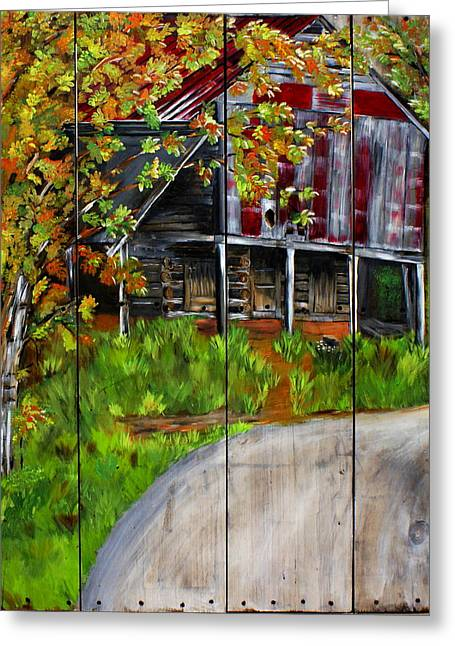 Tennessee Barn Greeting Cards - Milburns Barn Greeting Card by Ashley Galloway