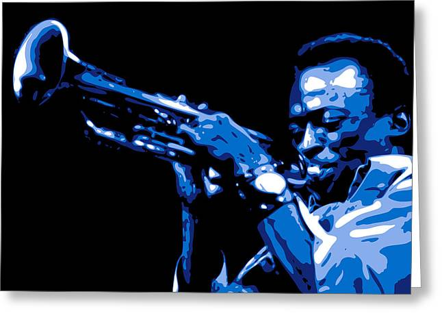 African-americans Greeting Cards - Miles Davis Greeting Card by DB Artist