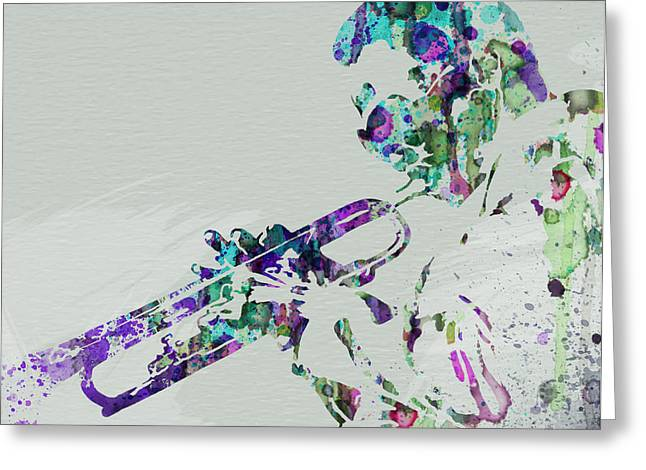 Band Greeting Cards - Miles Davis Greeting Card by Naxart Studio
