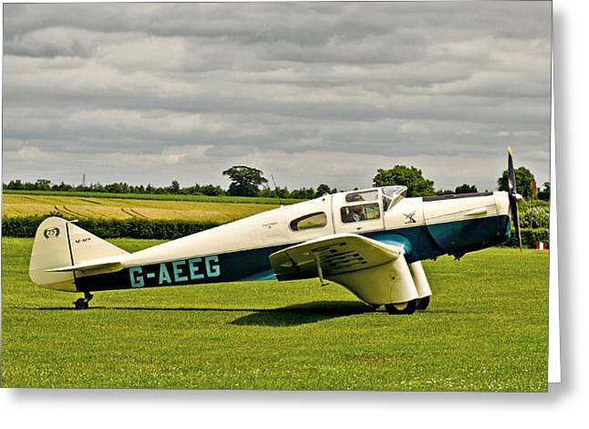 Monoplanes Greeting Cards - Miles M.3 Falcon circa 1934 Greeting Card by Chris Thaxter
