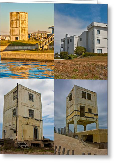 Topsail Island Photographs Greeting Cards - Military Observation Towers Operation Bumblebee Greeting Card by Betsy A  Cutler