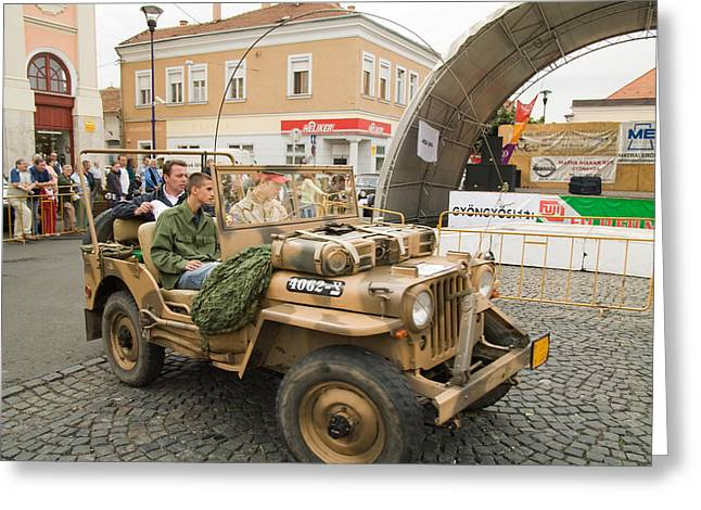 Military Old Car Greeting Card by Odon Czintos