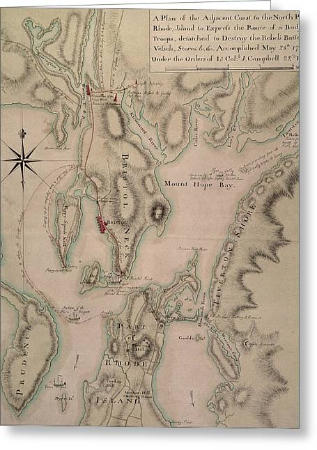 The North Greeting Cards - Military plan of the North Part of Rhode Island Greeting Card by English School