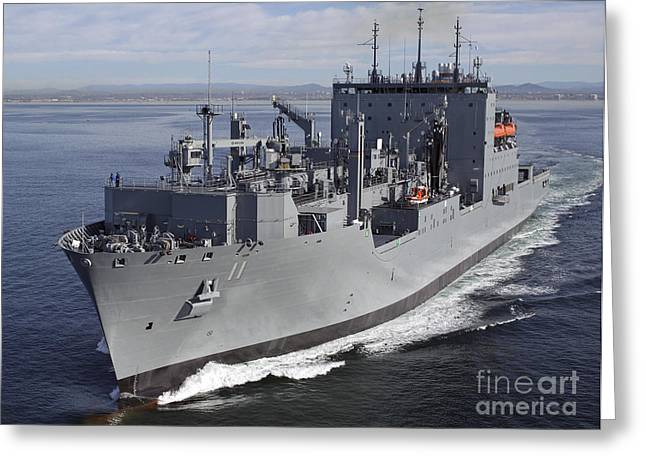 Speed Trials Greeting Cards - Military Sealift Command Dry Cargo Greeting Card by Stocktrek Images