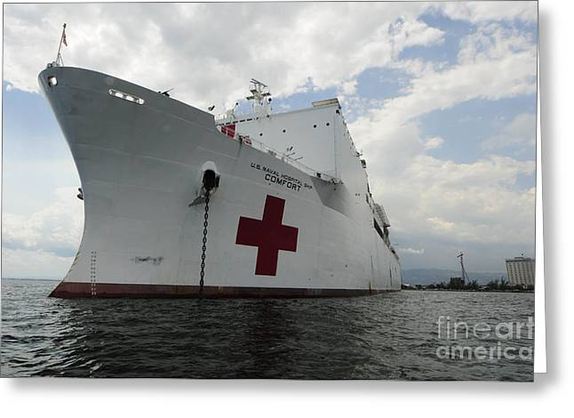 Continuing Greeting Cards - Military Sealift Command Hospital Ship Greeting Card by Stocktrek Images