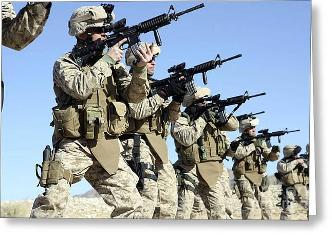 Reloading Greeting Cards - Military Transistion Team Members Greeting Card by Stocktrek Images