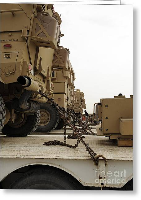 Lock Down Greeting Cards - Military Vehicles Are Locked Greeting Card by Stocktrek Images
