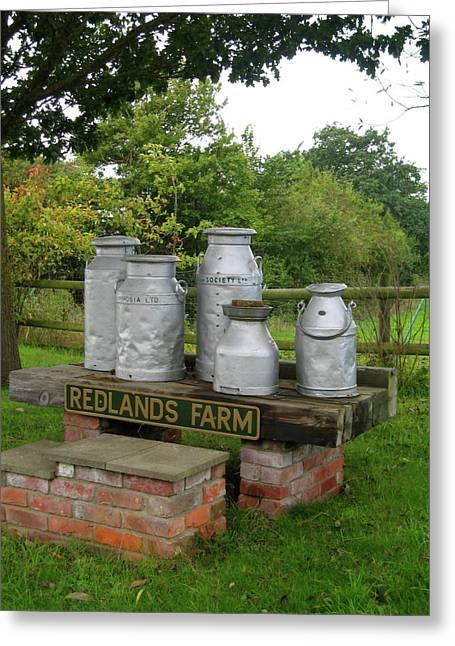 Wiltshire Greeting Cards - Milkcans Wiltshire England Greeting Card by Kurt Van Wagner