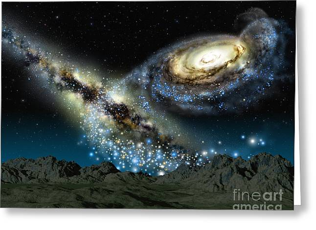 Andromeda Galaxy Greeting Cards - Milkomeda Greeting Card by Lynette Cook