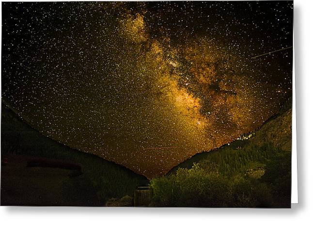 Best Seller Greeting Cards - Milky Way 4 Greeting Card by Melany Sarafis