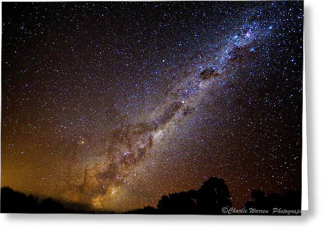Coonabarabran Greeting Cards - Milky Way Down Under Greeting Card by Charles Warren