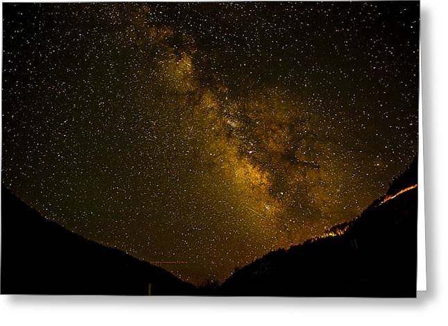 Best Seller Greeting Cards - Milky Way In the Mountains Greeting Card by Melany Sarafis