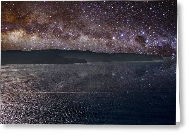 Milky Way sets over Ku-Ring-Gai Greeting Card by Charles Warren