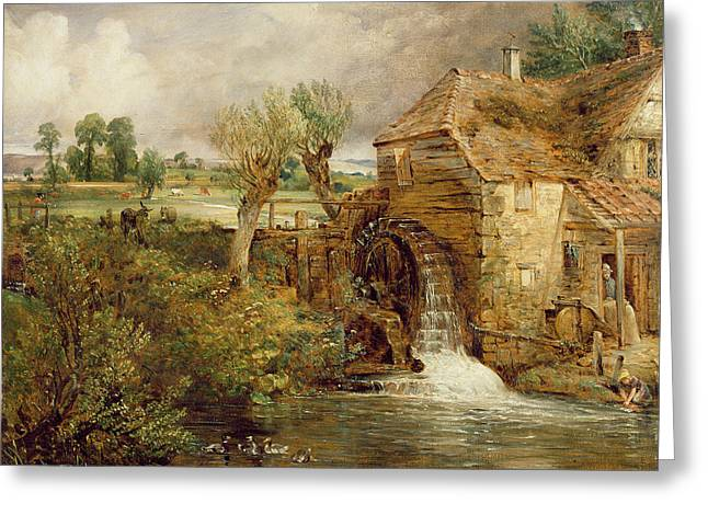 Constable; John (1776-1837) Greeting Cards - Mill at Gillingham - Dorset Greeting Card by John Constable
