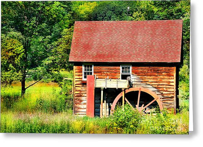 Mills Greeting Cards - Mill in Granville MA Greeting Card by HD Connelly
