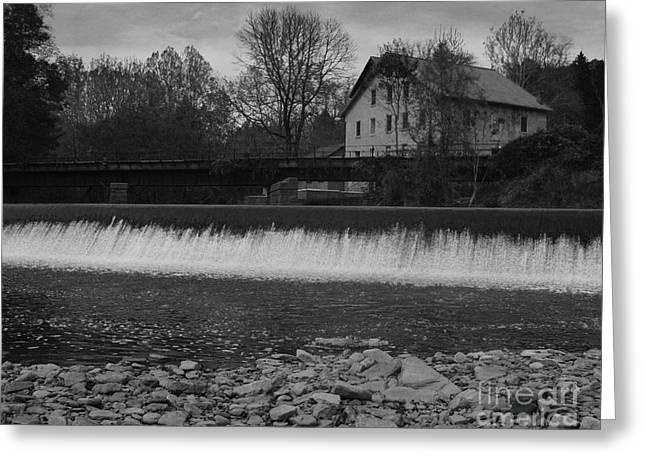 Mill On The Delaware Greeting Card by Val Arie