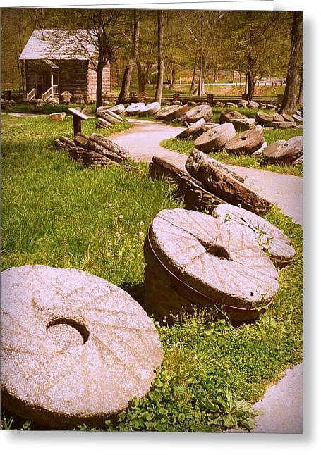 Levi Greeting Cards - Mill Stones Levi Jackson Greeting Card by Cindy Wright