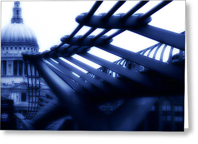 Millennium Bridge Greeting Card by Dima Kirlov