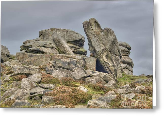Www.picsl8.co.uk Greeting Cards - Millstone edge - colour Greeting Card by Steev Stamford