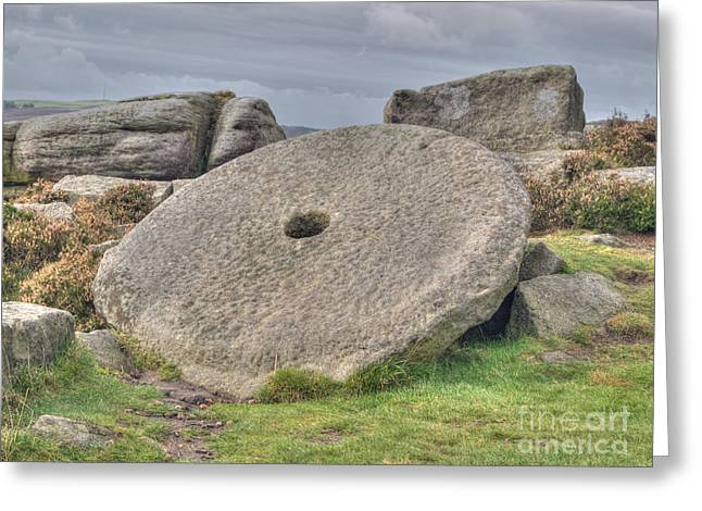 Www.picsl8.co.uk Greeting Cards - Millstone on edge Greeting Card by Steev Stamford