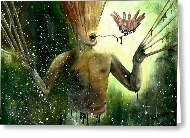 Vlad Grigore Greeting Cards - Mind Remnants - Panic and Paranoia Greeting Card by Grigore Vlad