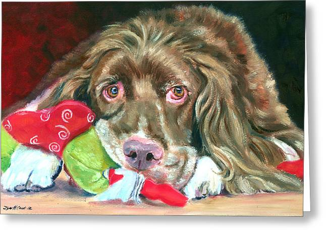 K9 Greeting Cards - Mine - Brittany Spaniel Greeting Card by Lyn Cook