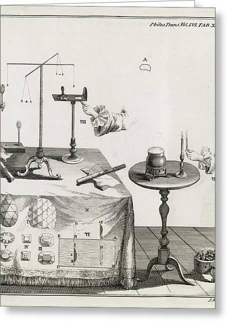 Affinity Greeting Cards - Mineral Properties, 18th Century Greeting Card by Middle Temple Library