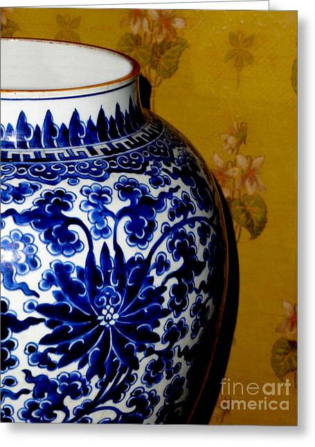 Canadian Photographer Greeting Cards - Ming Vase Greeting Card by Al Bourassa