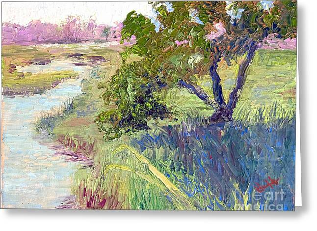 Tidal Creek Scene Greeting Cards - Mingo Point Greeting Card by Patricia Huff