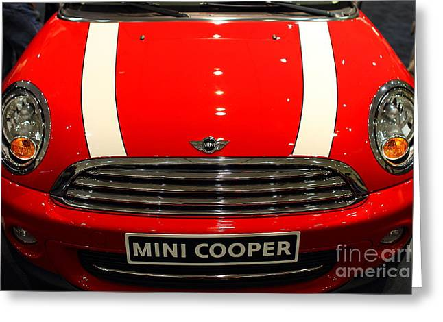 Import Car Greeting Cards - Mini Cooper . 7D9534 Greeting Card by Wingsdomain Art and Photography