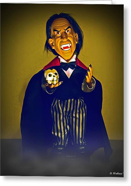 Count Dracula Greeting Cards - Mini Drac Greeting Card by Brian Wallace