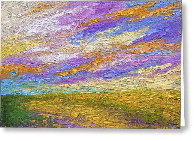 Southwest Sky Greeting Cards - Mini Landscape V Greeting Card by Marion Rose