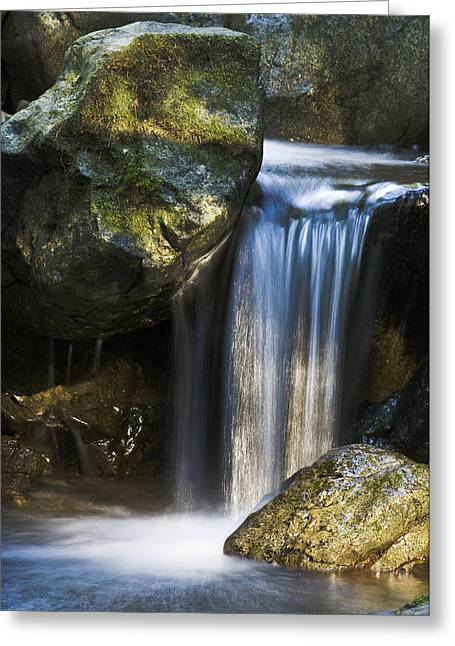 Northwestern Us Greeting Cards - Mini Waterfall Greeting Card by Greg Vaughn